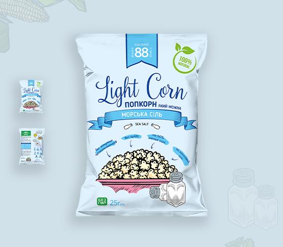 """Попкорн """"Морська сіль"""" - Lightcorn"""